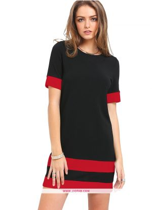 Tipsy Red Imported Fabric Plain Womens Top