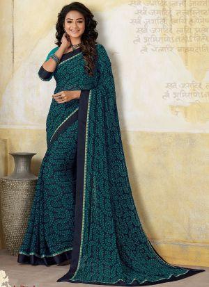 Traditional Wear Rama Georgette Designer Saree