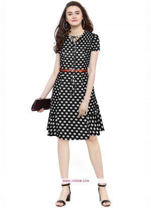 Us Polo Imported Western Wear Dress In Black Color