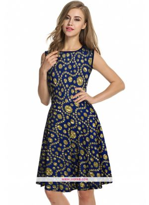 Us Polo Imported Western Wear Frock In Green Color