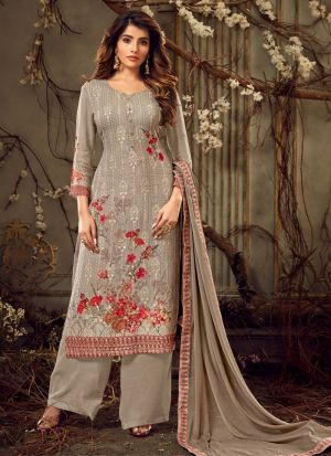 Wedding Collection Georgette Beige Palazzo Suits