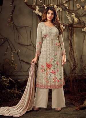 Wedding Collection Georgette Brown Palazzo Suits