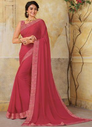 Wedding Wear Gajari Pretty Chiffon Saree