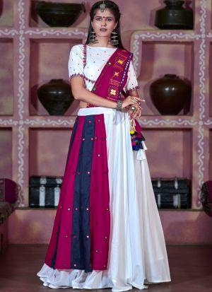 White Color Navratri Special Chaniya Choli