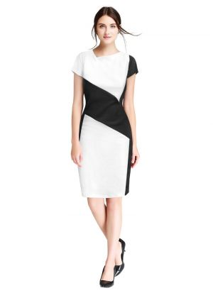 White V Neck Causal Wear Beautiful Short Dress