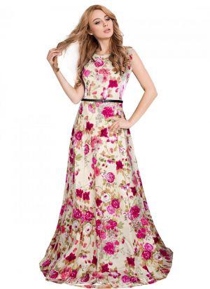 Wine Banglory Silk Satin Sleevless Gown