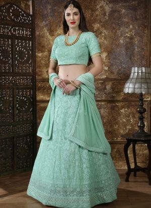 Wonderfull Mint Green Traditional Designer Lehenga Choli