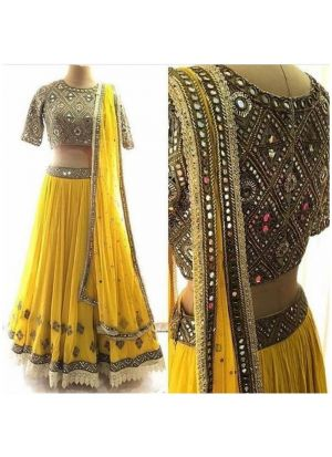 Yellow Color New Hit Design Lehenga Choli Collection