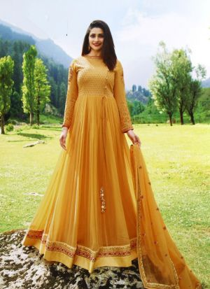 Yellow Georgette Eid Collection Salwar Suit