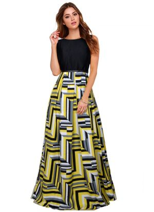 Yellow Solid Long Maxi Dress