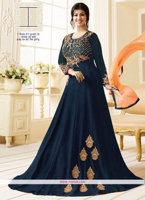 Zubeda Posh Collection Navy Heavy Embroidery Designer Salwar Suit