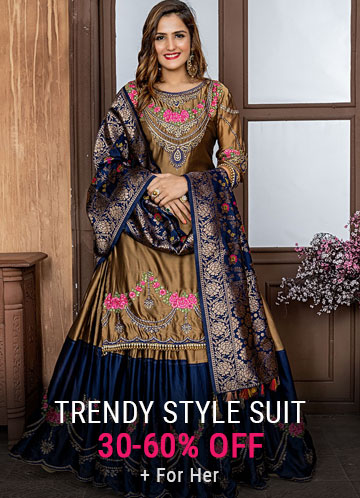 Palazzo Style Salwar Suits Online