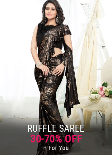 Ruffle Saree Online